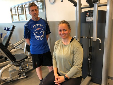 """HJELP: Jerry Fjeld og Lill Anita Holtmoen søkte på """"stillingene"""" om  å trene og få hjelp til å bli i bedre form."""