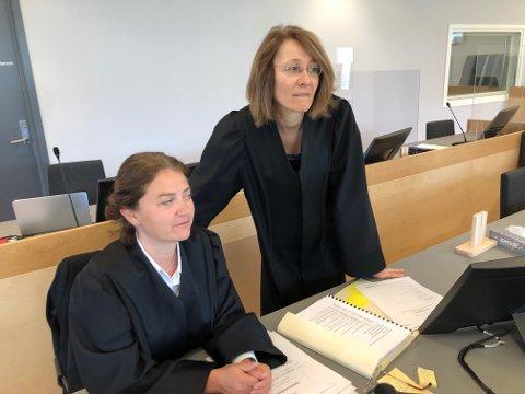 Vant fram: Bistandsadvokat Siri Brænden og politiadvokat Wigdis Hjalmarsen under rettssaken i Romerike og Glåmdal tingrett nylig.