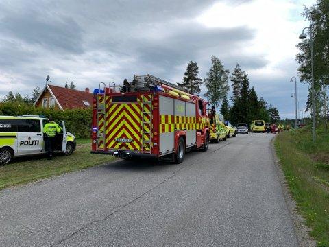 ULYKKE: Tre biler var involvert i Ulykka i Nes torsdag