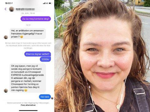 FACEBOOK: Tania Illum-Iden (38) mener hun ble forsøkt svindlet på Facebook.