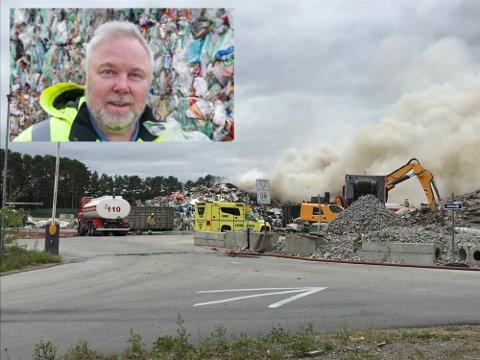ROSER: Daglig leder ved GIR, Trond Sørensen, skryter av de ansattes innsats under brannen i restavfallet på Hernesmoen fredag. Bildet er tatt i en annen forbindelse.