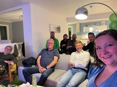 SP BENKET FORAN TV-EN: Ordfører Margrethe Haarr arrangerer valgvake hjemme hos seg selv.