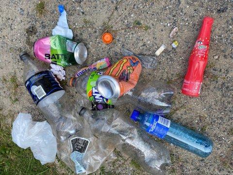 GRISERI PÅ LEKEOMRÅDET: Dette søppelet ble plukket opp en morgen denne uka.