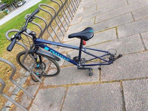 Kjedelig for en 13-åring å finne «rester» av sykkelen slik.