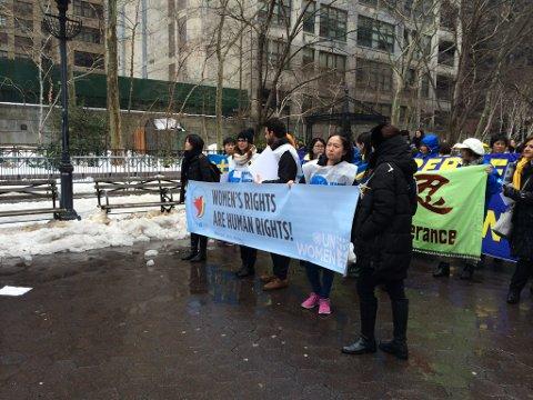 Mange nasjonaliteter representert i New York.