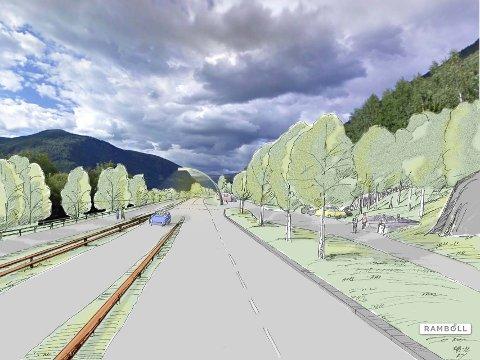 Motorveg i framtida: Slik ser Statens vegvesen for seg at E6 inn mot Otta blir med utbyggingsplanene som nå foreligger. Men i framtida kan det bli motorveg helt fram til Otta.