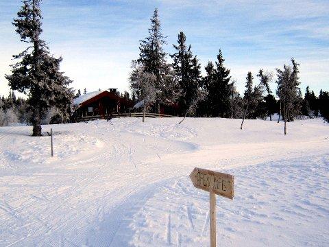 Midtfjellkoia i Birkebeinerløypa er som skapt for en rast.
