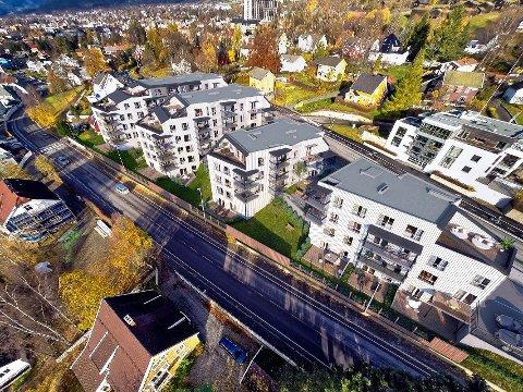 Ved Oppland park planlegges nye leiligheter i fire bygg.
