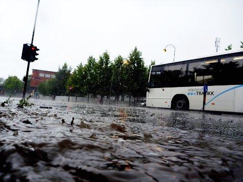 Det har vært store nedbørsmengder over Gudbrandsdalen de siste dagene, og spesielt tirsdag. Foreløpig har ikke det skapt flomproblemer. Bildet er fra tidligere.
