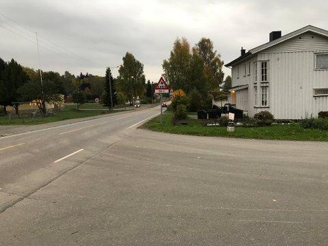 Offeret ble funnet her i Storgata i Moelv i desember i fjor.