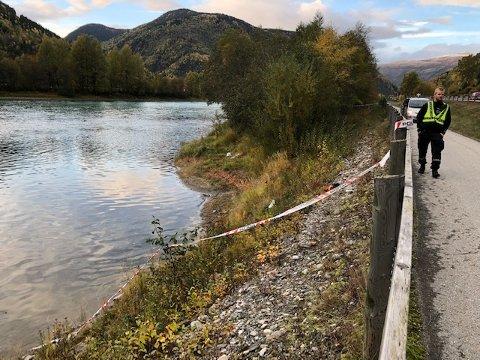 Området ved Gudbrandsdalslågen hvor den døde kvinnen ble funnet.