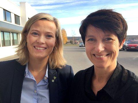SP-ANSVAR: Aud Hove (t.h.) og Kjersti Bjørnstad representerer et Senterparti som er hovedansvarlig for en politikk som fører til sentralisering, også i Innlandet, skriver Olemic Thommessen.