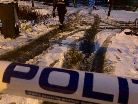 Politiet har sperret av området på Sorperoa på Vinstra.