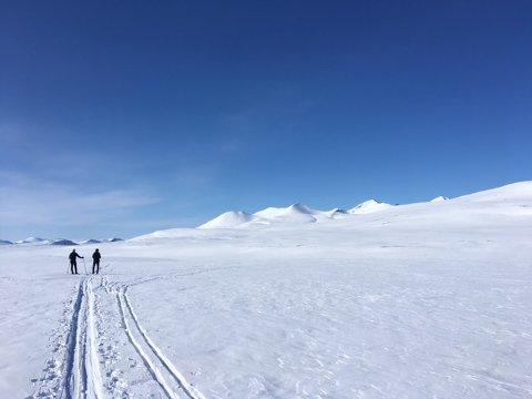 Finværet fortsetter påska gjennom både her i Rondane og i Jotunheimen.  Foto Halvor Torgersrud