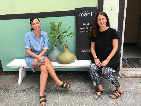 TIL PARIS: Ingvild og Sidsel Hemma - gründerne bak Ment på Fåberg. Tirsdag 4. september drar de som eneste norske merkevare til Paris for å delta på to utstillinger.