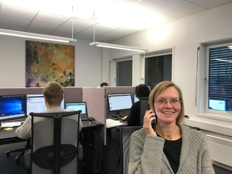 Regnskapsekspert og rådgiver Elisabeth Langlo Brøndbo og kollegene i Viewledger i Lillehammer lot seg ikke lure av telefonsvindlerne.