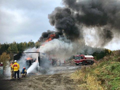Brannvesenet fikk raskt kontroll over brannen.