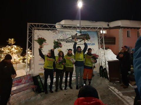 Her jublar Eirik Schjølberg etter å ha gått heilt til topps i konkurransa.