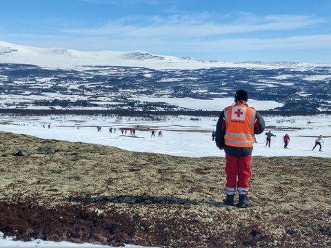 PÅSKEFJELLET: Langfredag har det vært mest skader som brudd og forstuinger, opplyser Røde Kors i Hedmark og Oppland.