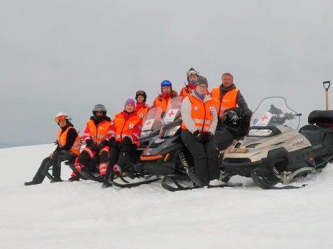 PÅ POST: Mye å gjøre, men ikke så travel påske i år som i fjor for Hedmark Røde Kors hjelpekorps.