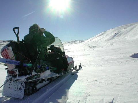 Styring: Kommunene i Oppland har god kontroll på snøskuterkjøringen.Foto: Vidar Heitkøtter