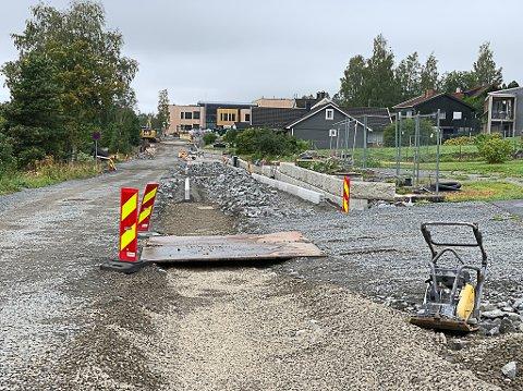 SKOLESTART: Nordre Ål skole åpner om to uker, men anleggsarbeidet pågår for fullt.