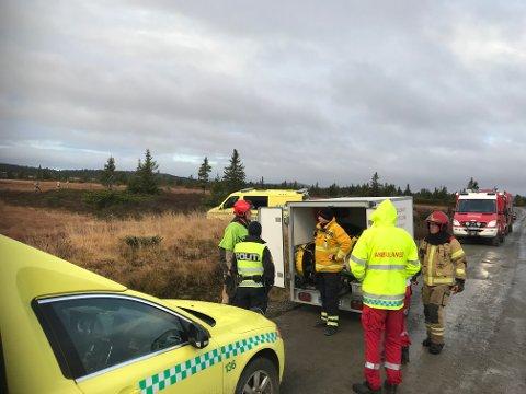 Brannmannskaper fra både Mesnalia i Ringsaker og fra Lillehammer rykket ut til brann i en hytte ved Melsjøsetervegen på Nordseter.