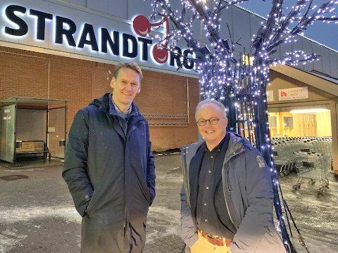 HANDLET TIL JUL: Direktør i Scala Eiendom, Hans Jørgen Mørland. og daglig leder i CC Eiendom, Ketil Norheim kjøpte tre kjøpesentre til jul.