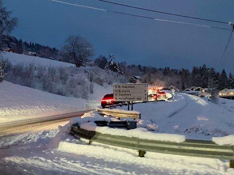 Trafikkaos opp mot Pellestova i Øyer lille nyttårsaften.