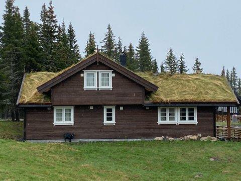 Dette er en av de mange nye hyttene på Nordseter i Lillehammer.