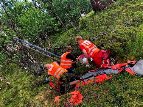 Både antall redningsaksjoner og leteaksjoner i Oppland har økt kraftig fra 2019. Bildet over er tatt fra en øvelse hos Røde Kors i sommer.