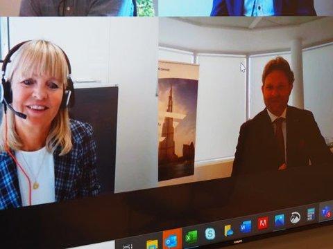 Administrerende direktør i Nye Veier, Anette Aanesland og Nic De Roeck, europadirektør i Besix.