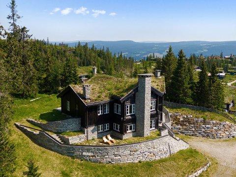 DYREST: Denne hytta har blant annet fire bad, sengeplass til 12, vannbåren varme og utendørs jacuzzi.