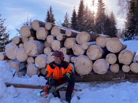 Skogeier Terje Hoff fra Otta er godt fornøyd med tingenes tilstand for skogsdriften.