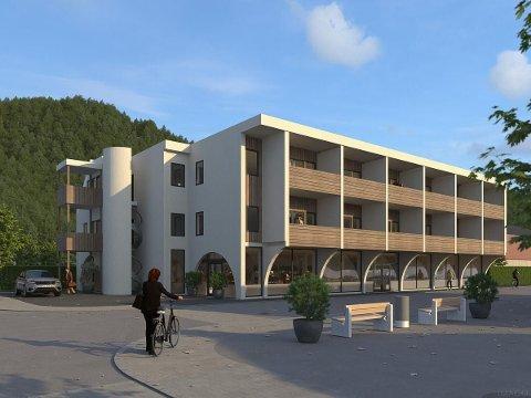 Slik blir leilighetsbygget i Otta sentrum når det står ferdig. 12 leiligheter er nå lagt ut for salg på Finn.