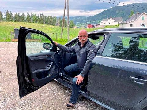 Pendler Bjørn Moastuen fra Fåvang reiser daglig til Rudshøgda der arbeidsplassen hans er.