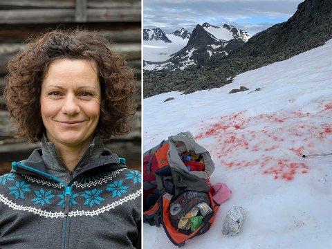 UHELDIG: Orsolya Haarberg kom ut for en blodig ulykke i Jotunheimen.