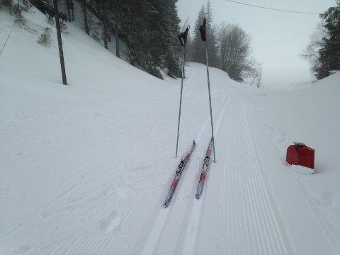 GODE SPOR: Det er fine skiløyper mange steder på Hadeland, og gode værutsikter for helgen. Arkivfoto: Haakon Kalvsjøhagen