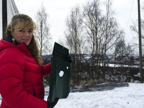 IKKE FORNØYD: Haldis Lyckander, rektor ved Jaren skole, synes det er trist med hærverk ved skolen.