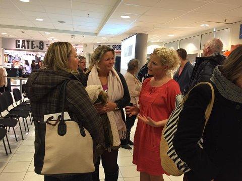 Hedda Kise fikk en prat med mange av de som møtte opp.