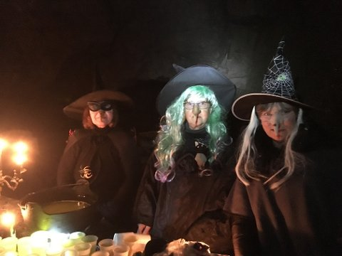 HALLOWEEN: Halloweenarrangementet på Grua har blitt svært populært.