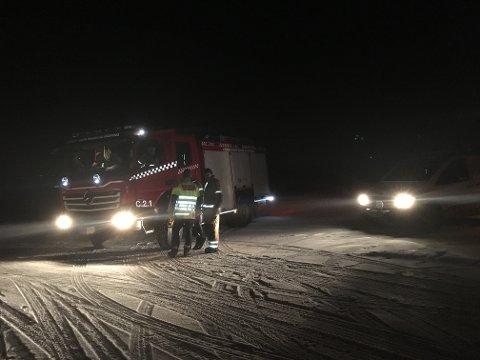 Brannvesenet var på stedet klokka 21.30.