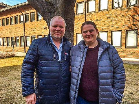 OVERTAR ETTER KOLBY: Finn Hvalsbråten blir hovedtillitsvalgt i Gran kommune i 100 prosent stilling og Kjersti Wirstad er nyvalgt leder i Fagforbundet i Gran.