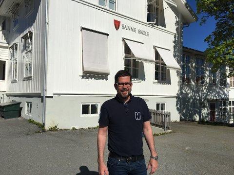 NY JOBB: Lasse Juliussen har fått jobb som inspektør ved Lunner ungdomsskole. - Jeg gleder meg til å bli del av et større team, sier han.