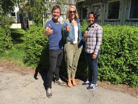 Gest til lokalmiljøet: Eystein Hagen, prosjektleder VårYr, Inger Reidun N. Fleischer fra Fritid for alle, og Samrawit Yakob, ansatt hos Voksenopplæringen.