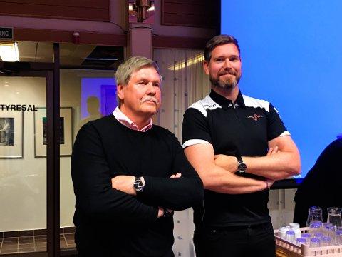 KJØR FOR LIVET: Ivar Ringen i Trygg Trafikk og Olav Karlsen i Kjør for livet fikk overbevist regionrådet for Hadeland om å gå for deres prosjekt. Karlsen skal lede arbeidet.