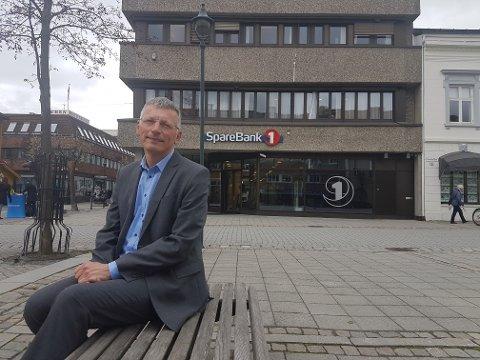 FARE FOR STREIK: – Forutsatt at det ikke oppstår spesielle situasjoner vil hovedtjenestene i bankstrukturen være oppe, sier Steinar Haugli i  Sparebank 1 Ringerike Hadeland.