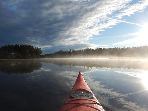 IDYLL: Fjorda er et kanoeldorado. Gjestene er flinke til å ta med søpla etter seg.