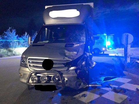 SKADER: Det var store skader på de involverte kjøretøyene etter ulykken i fjor sommer.