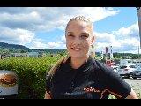 Nora Linstad skal jobbe på den nye butikken på Gran i sommer.